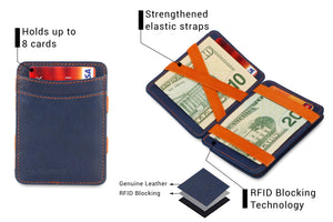 Magic Coin Wallet RFID Hunterson - Blue-Orange - 3