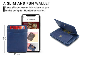 Magic Coin Wallet RFID Hunterson - Blue - 2