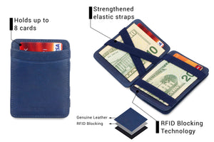 Magic Coin Wallet RFID Hunterson - Blue - 3