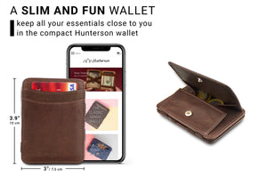 Magic Coin Wallet RFID Hunterson - Brown - 2