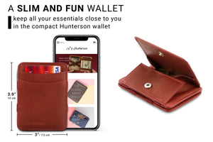 Magic Coin Wallet RFID Hunterson - Burgundy - 2