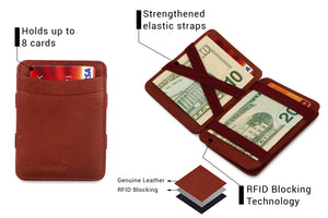 Magic Coin Wallet RFID Hunterson - Burgundy - 3