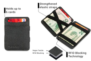 Hunterson Vegan RFID Magic Coin Wallet - Charcoal - 3