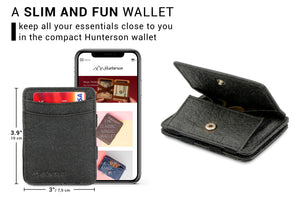 Hunterson Vegan RFID Magic Coin Wallet - Charcoal - 2
