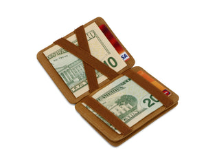 Magic Coin Wallet RFID Hunterson - Cognac - 1