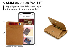 Magic Coin Wallet RFID Hunterson - Cognac - 2