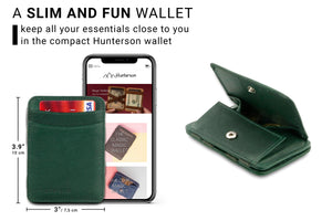 Magic Coin Wallet RFID Hunterson - Green - 2