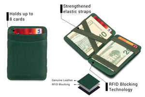 Magic Coin Wallet RFID Hunterson - Green - 3