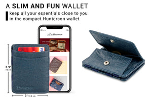 Hunterson Vegan RFID Magic Coin Wallet - Marine - 2