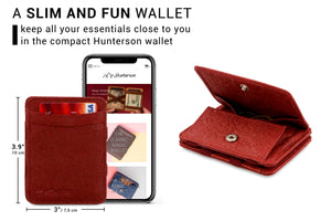 Hunterson Vegan RFID Magic Coin Wallet - Mulberry - 2