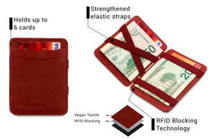 Hunterson Vegan RFID Magic Coin Wallet - Mulberry - 3