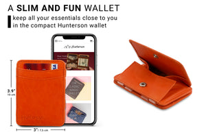 Magic Coin Wallet RFID Hunterson - Orange - 2