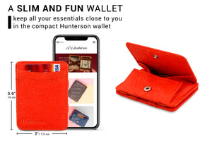 Hunterson Vegan RFID Magic Coin Wallet - Paprika - 2