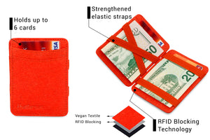 Hunterson Vegan RFID Magic Coin Wallet - Paprika - 3