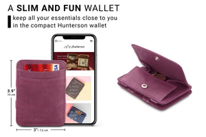 Magic Coin Wallet RFID Hunterson - Purple - 2