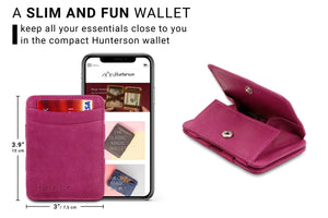 Magic Coin Wallet RFID Hunterson - Raspberry - 2