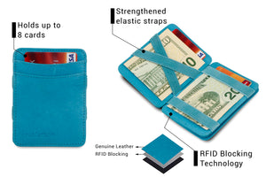 Magic Coin Wallet RFID Hunterson - Turquoise - 3
