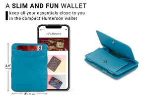 Magic Coin Wallet RFID Hunterson - Turquoise - 2