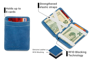 Magic Wallet RFID Hunterson - Azur-White - 3