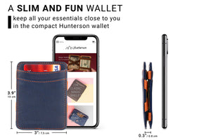 Magic Wallet RFID Hunterson - Blue-Orange - 2