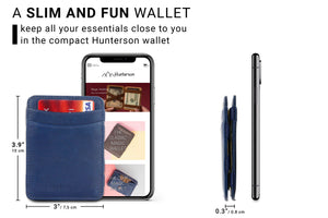 Magic Wallet RFID Hunterson - Blue - 2