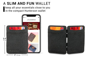Hunterson Vegan RFID Magic Wallet - Charcoal - 2