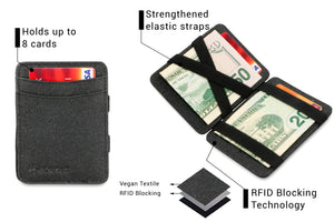Hunterson Vegan RFID Magic Wallet - Charcoal - 3