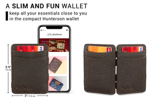 Hunterson Vegan RFID Magic Wallet - Chestnut - 2