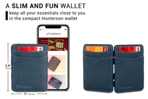 Hunterson Vegan RFID Magic Wallet - Marine - 2