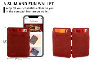 Hunterson Vegan RFID Magic Wallet - Mulberry - 2