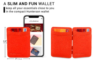 Hunterson Vegan RFID Magic Wallet - Paprika - 2