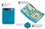 Magic Wallet RFID Hunterson - Turquoise - 3