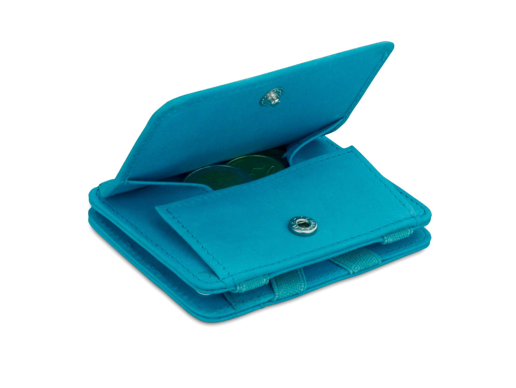 Magic Coin Wallet RFID Hunterson - Turquoise - 0