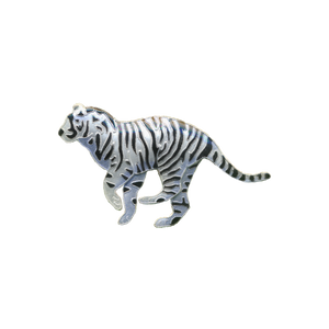 Pin  Wh Tiger Enamel