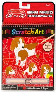 Scratch Art Animal Families