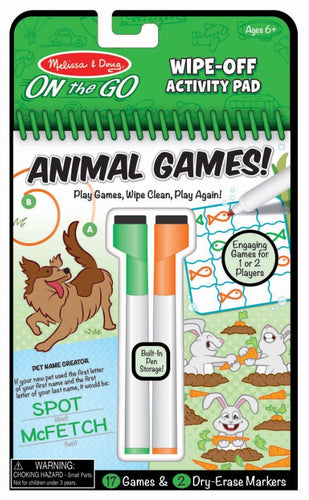 Animal Games Wipe Off Activity