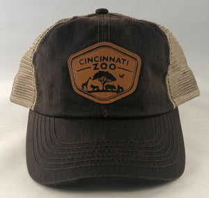 Hat BB Poly Mesh Brown Patch