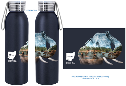 Waterbottle Elephant MH2R Blk