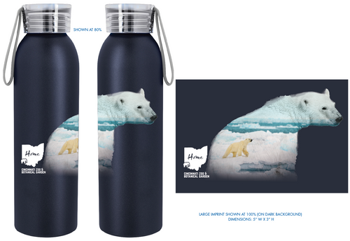 Waterbottle PolarBear MH2R Blk