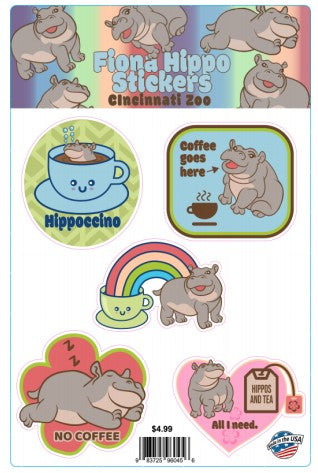 FIONA COFFEE STICKER SHEET