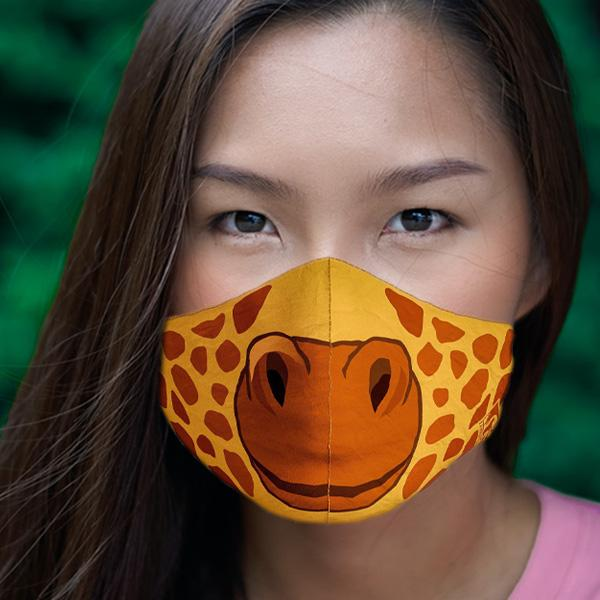 ADULT LARGE GIRAFFE FACE MASK