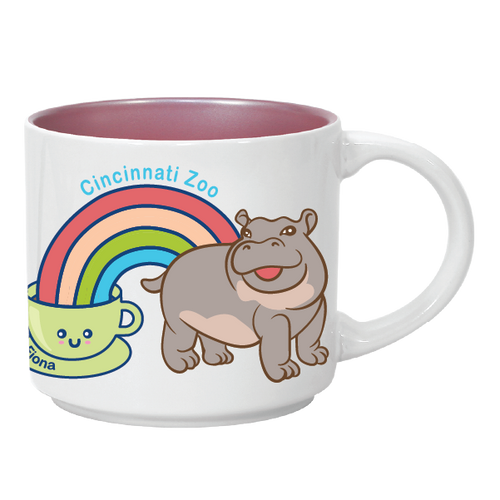 MUG HIPPOS & COFFEE 14 OZ