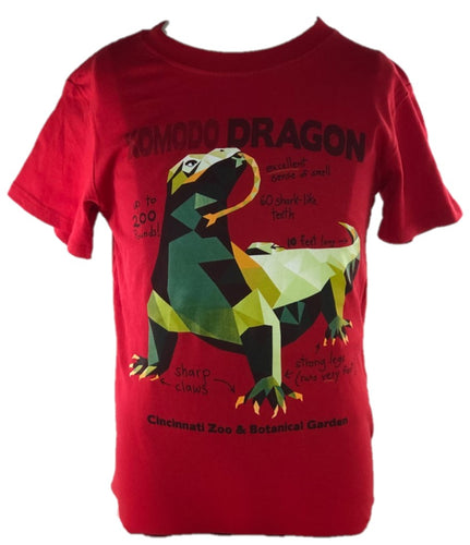 Tee Yth Polygon Komodo Dragon