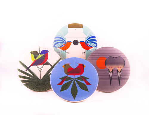 Coaster Set Harper Love Birds