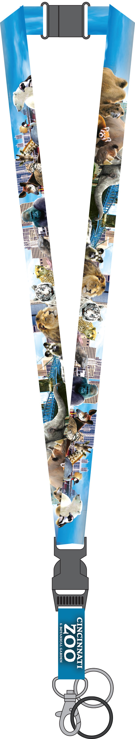 Lanyard Animal City Skyline