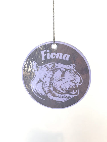 ORNAMENT FIONA LAVENDAR GLASS