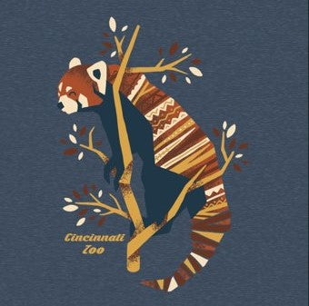 Tee Ladies Red Panda Cut-Out