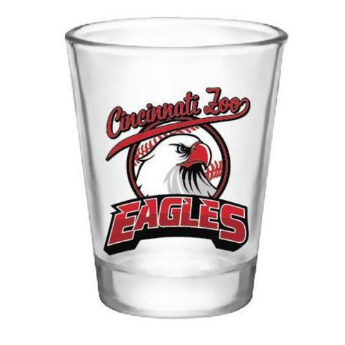 Shot Glass Eagles Red Baseball