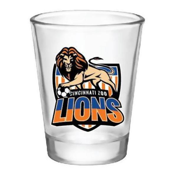 Shot Glass Lions Soccer