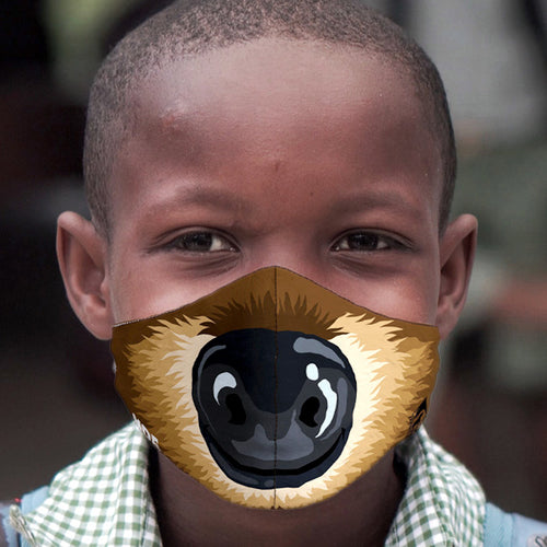 TODDLER MOE SLOTH FACE MASK